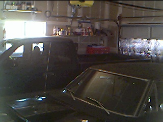 Budnicks 99 Dakota 4x4 & 68 RR in Garage.JPG