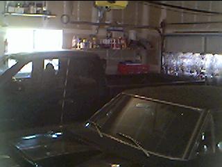 Budnicks Sonora 99 Dakota 4x4 & 68 RR in Garage.JPG