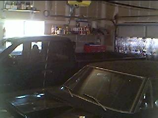 Budnicks Sonora 99 Dakota 4x4 & 68 RR in Garage.JPG